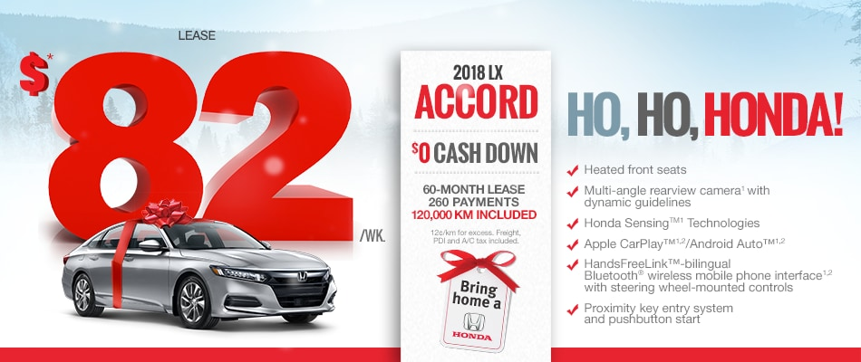 Honda Financial Services Payment >> 2018 Accord Promotion - Sherbrooke Honda Promotion in Sherbrooke