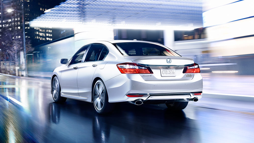 Image of Accord Sedan rear profile driving