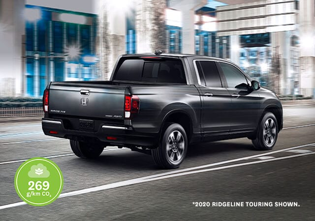 Image of 2019 Ridgeline driving on street