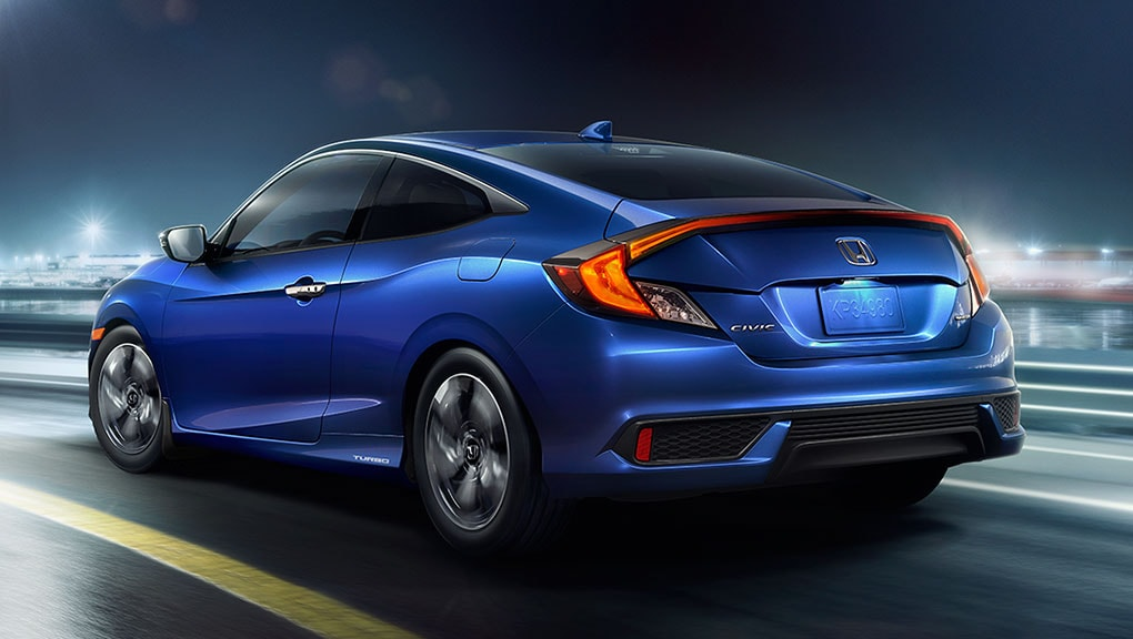 Image of 2018 Civic Coupe rear profile