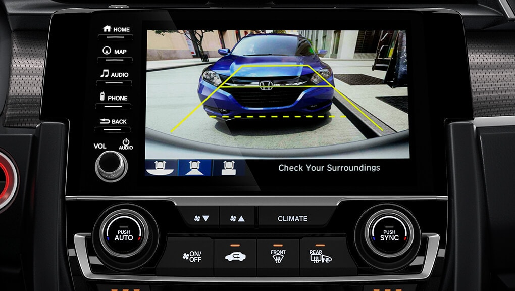 2018 Civic Coupe rearview camera