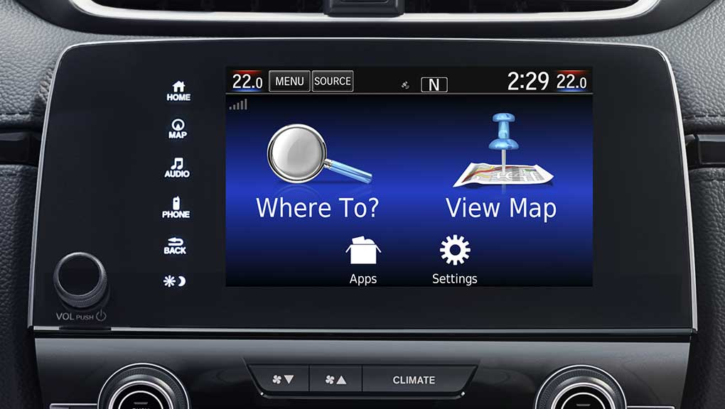 Image of 2017 CR-V Honda satellite-linked navigation system