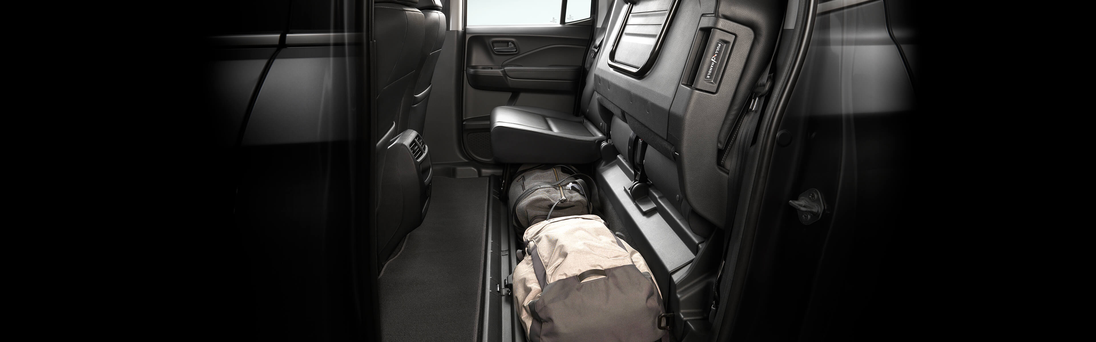 Image of 2018 Ridgeline 60/40 lift-up rear seat
