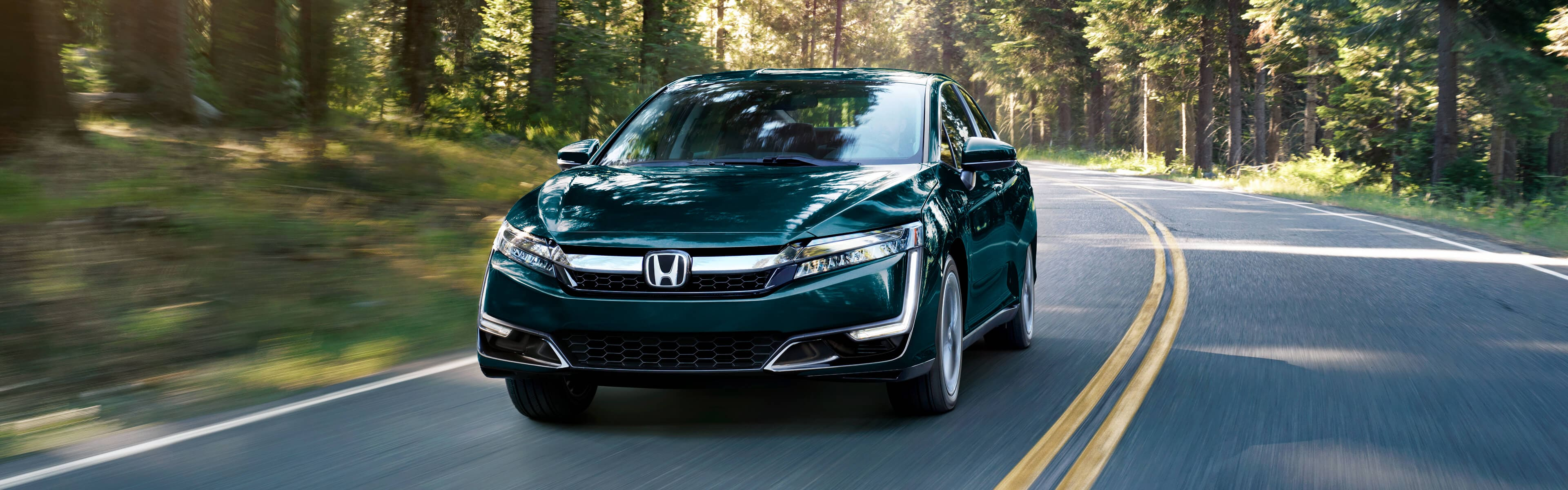 2018 Honda Clarity Driving Through Forest ...