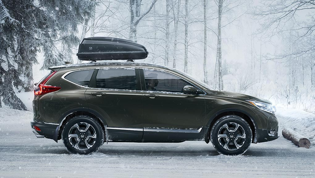 Image of 2017 CR-V parked in snow