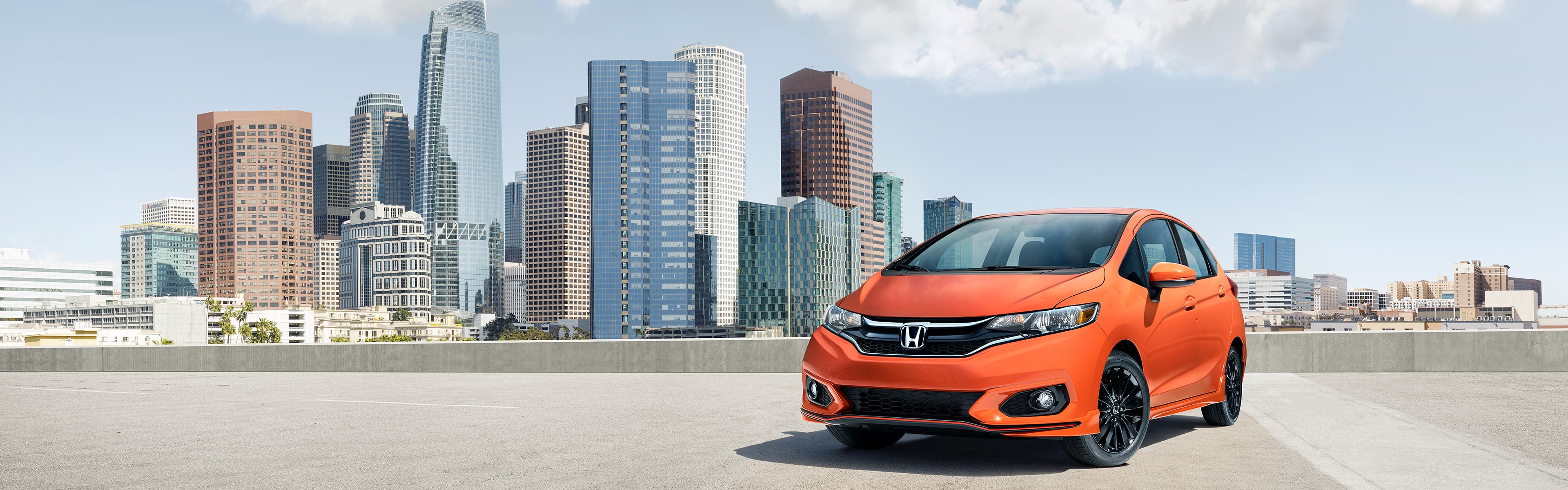 Image of orange 2018 Honda Fit Sport