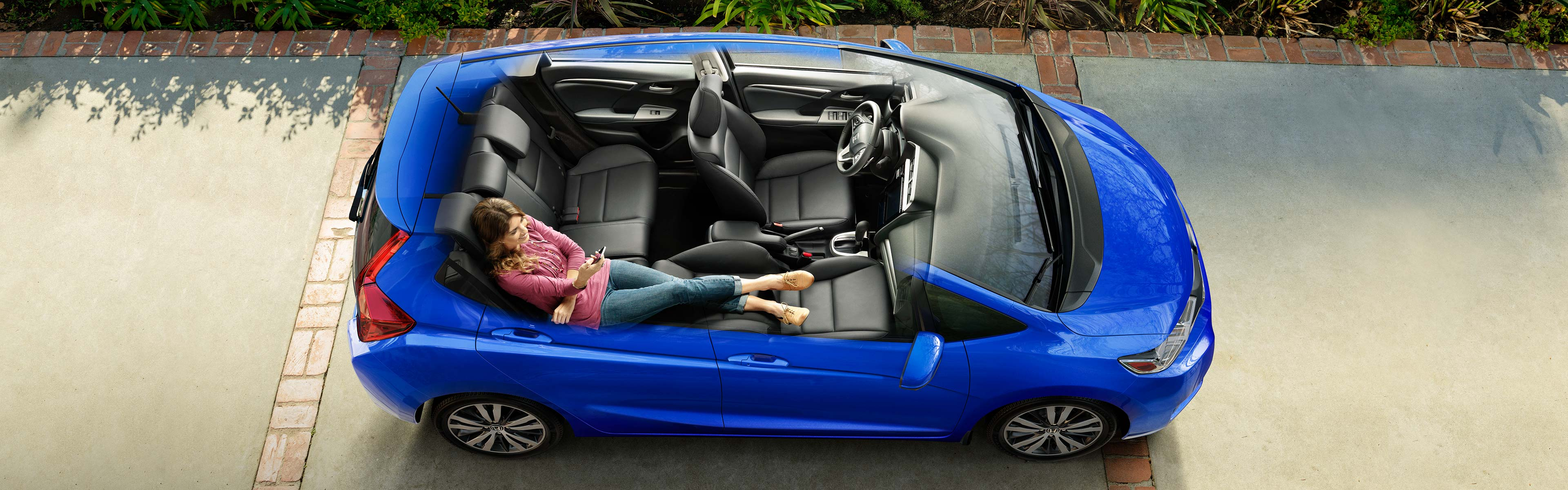 Image of blue 2018 Honda Fit interior space