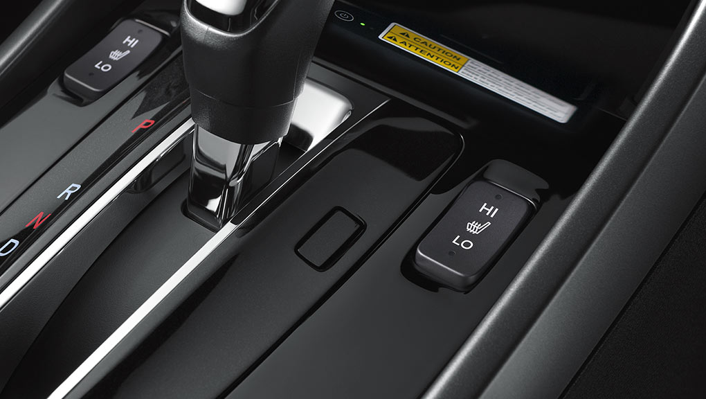 Image of the heated front seats button