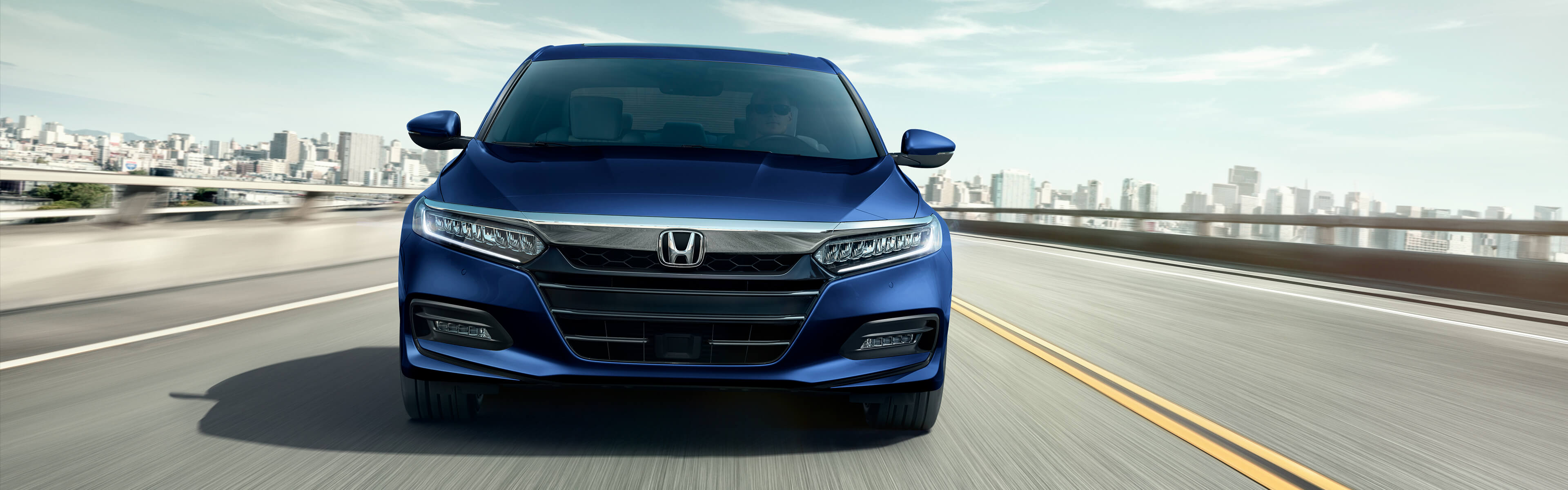 Image of 2020 Honda Accord Sedan on highway.