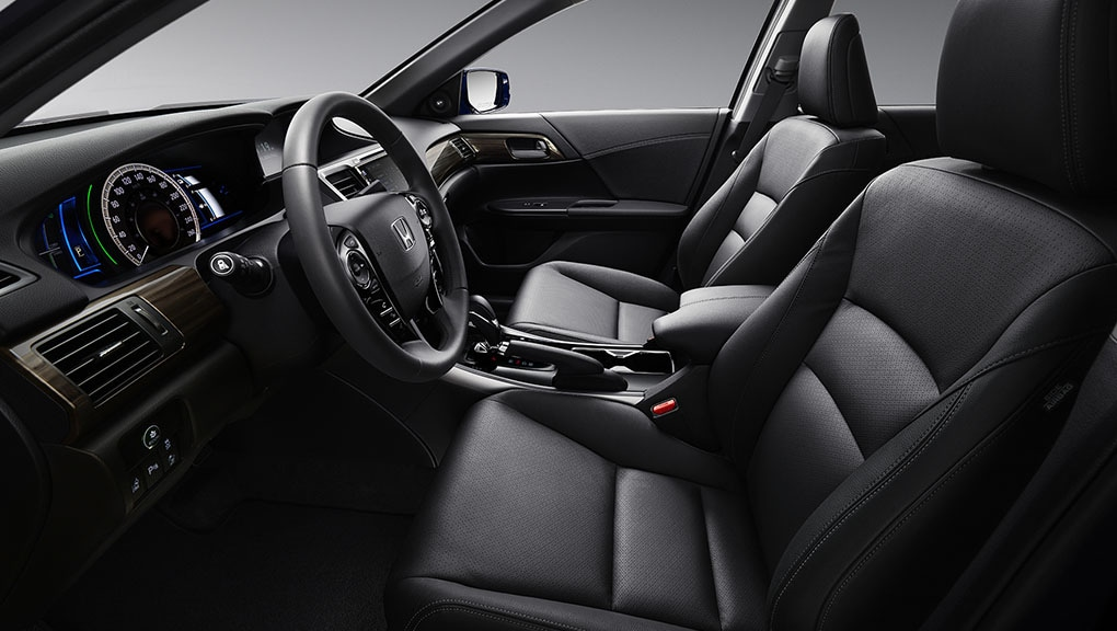 Image of the perforated leather seats.