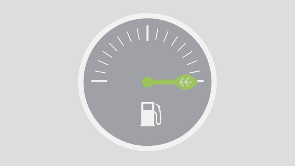 Fuel gage icon demonstrating the 2020 Honda Clarity fuel economy.