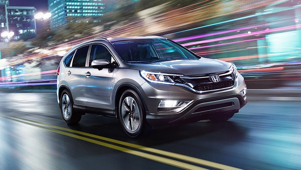 Image of available rain-sensing windshield wipers on the 2016 Honda CR-V.