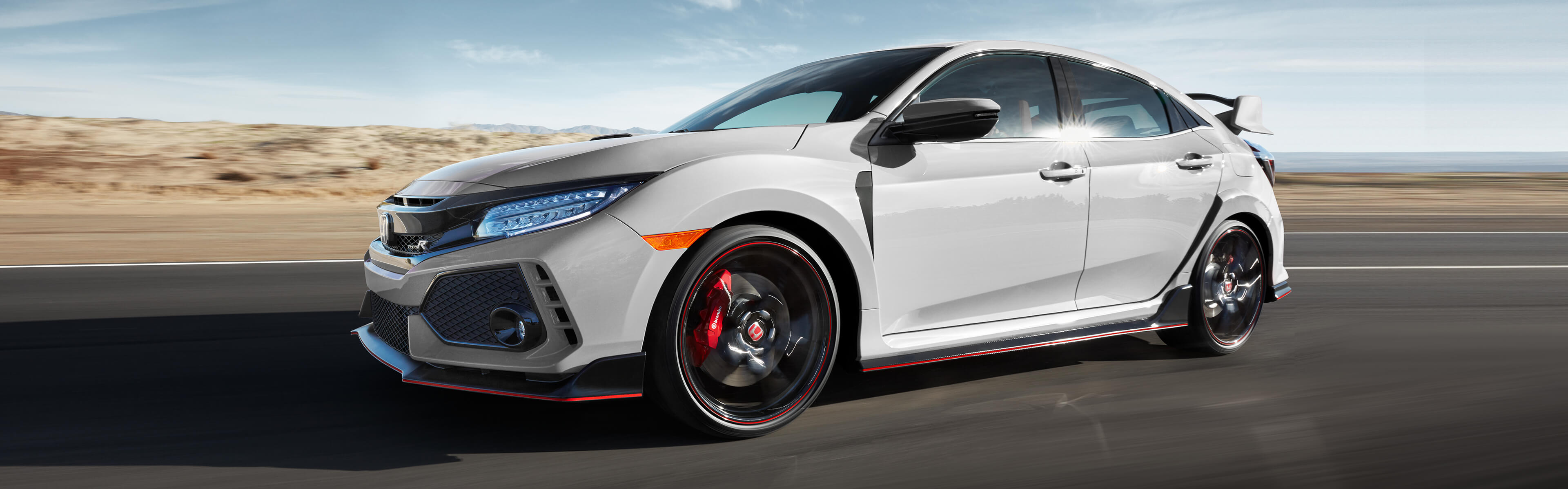 Image of 2018 Civic Type R on racetrack