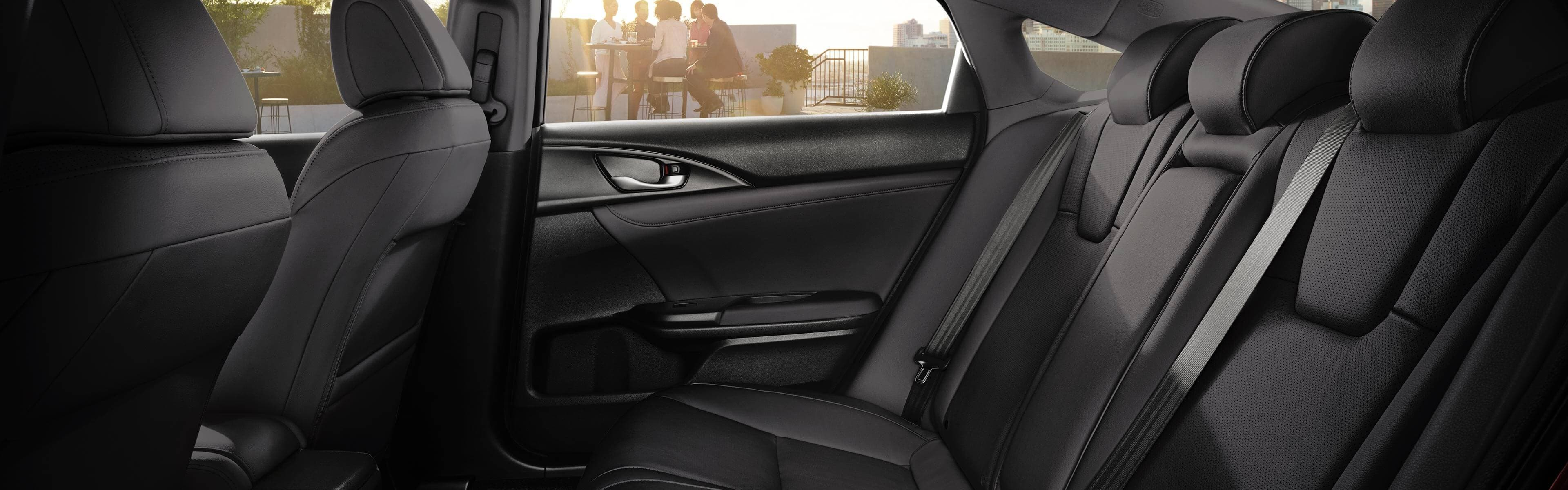 Rear seat interior of 2019 Honda Insight