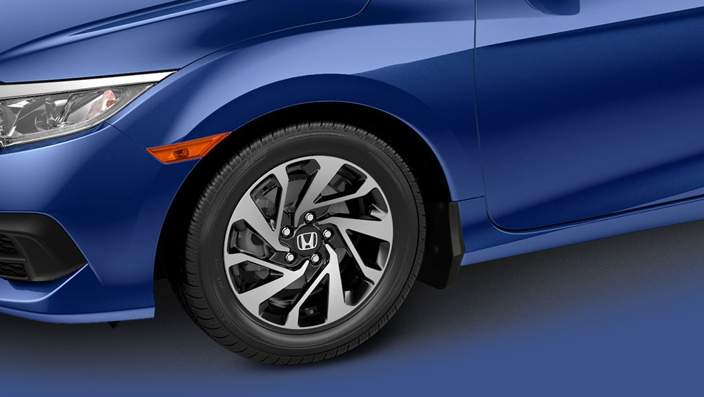 "2018 Civic Coupe 17"" aluminum-alloy wheels"