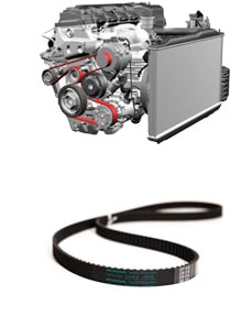 Engine and belt