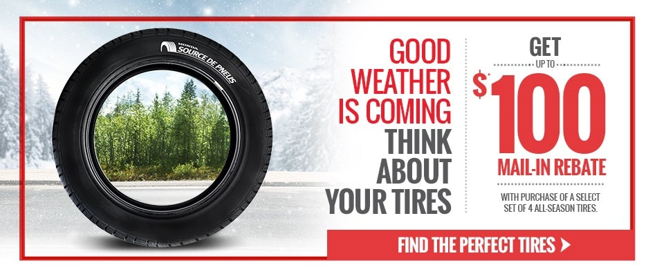 Honda Parts & Service Tires - Rebates