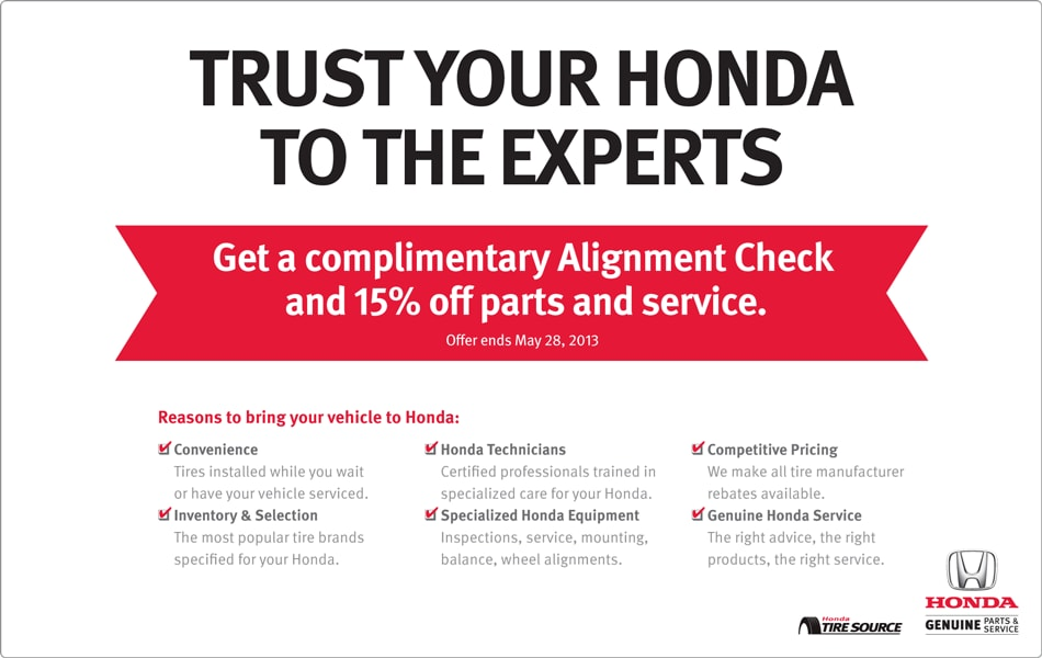 Honda maintenance discount coupons