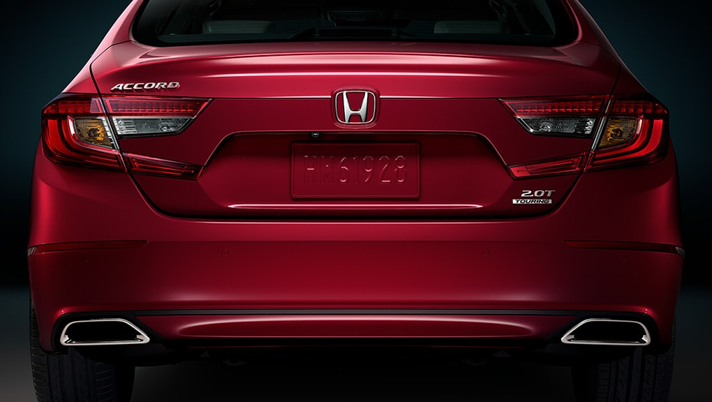 Image of 2018 Honda Accord dual chrome exhaust finisher