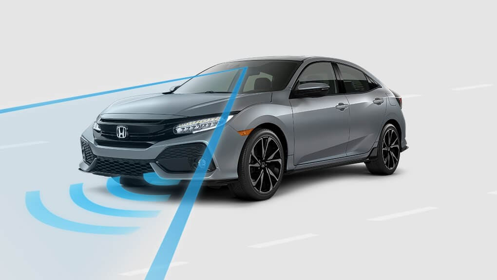 Image of 2017 Civic Hatchback Collision Mitigation Braking System