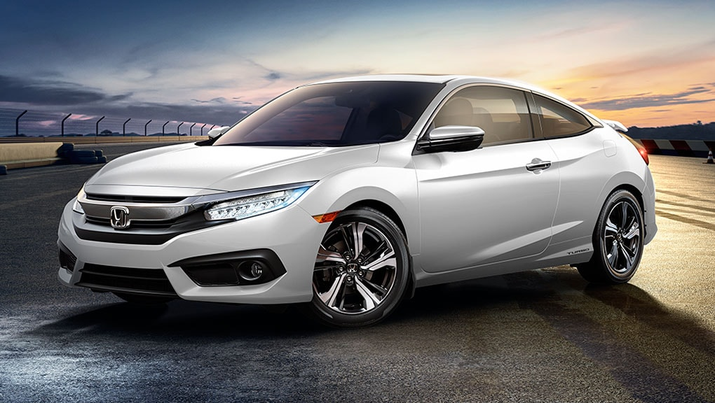 Image of 2016 Civic Coupe aggressive stance