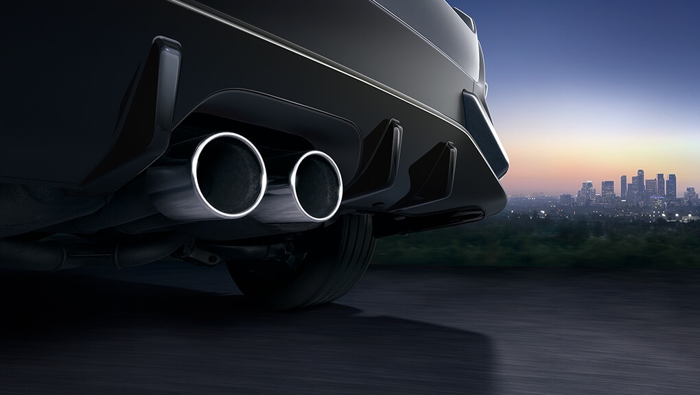 Image of 2018 Civic Hatchback dual centre exhaust