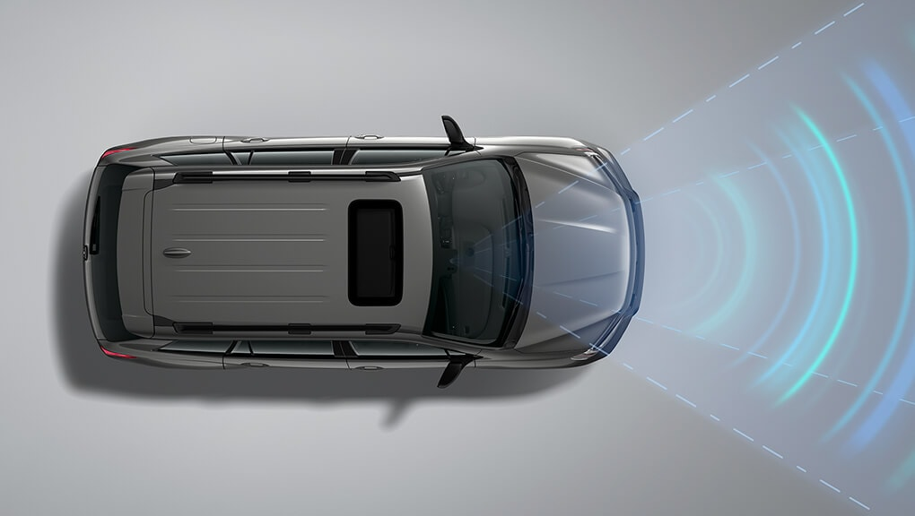 Exterior overhead view of 2019 Honda Passport Lane Departure Warning (LDW) System.