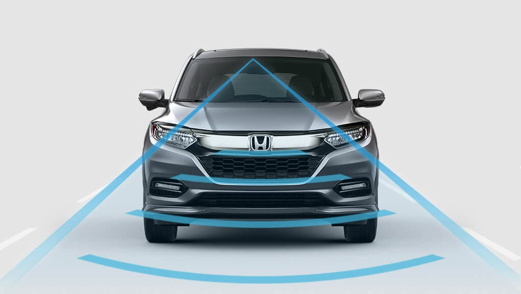 Front 3/4 view of 2019 Honda Passport Lane Keeping Assist System (LKAS).