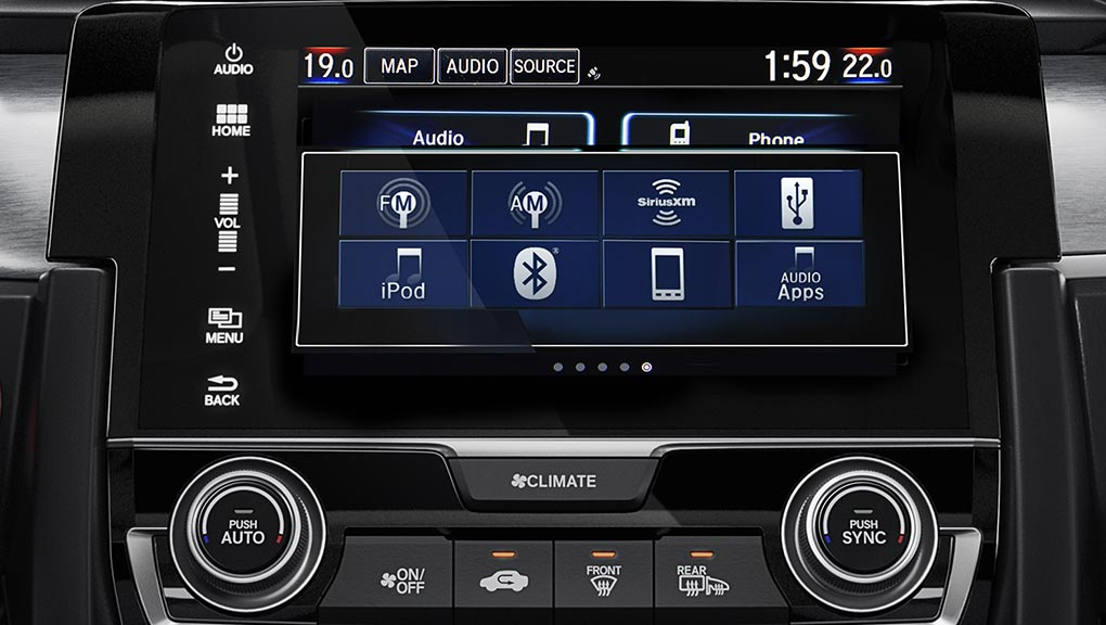Image of 2017 Civic Display Audio System