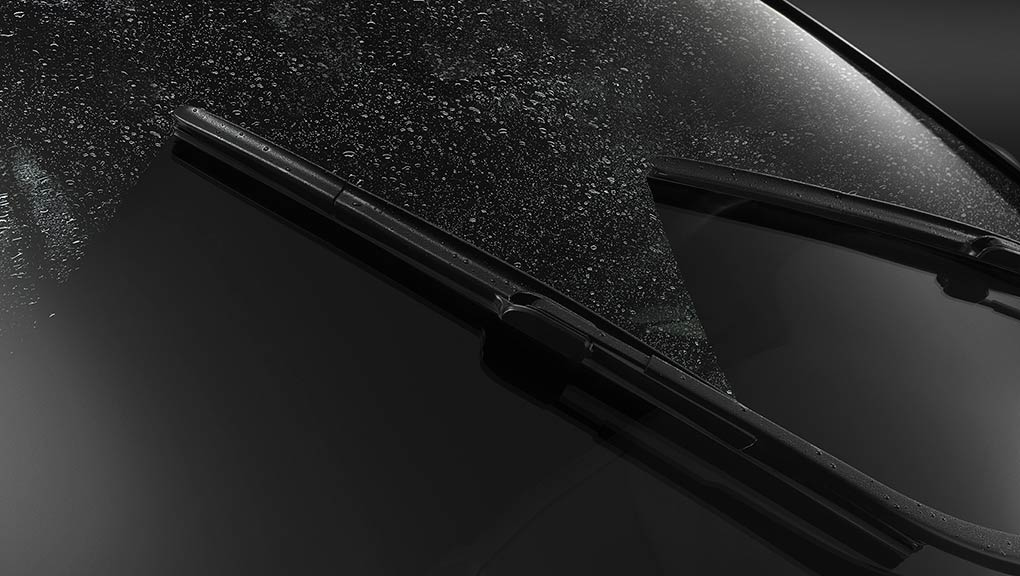 Image of the rain-sensing windshield wipers.