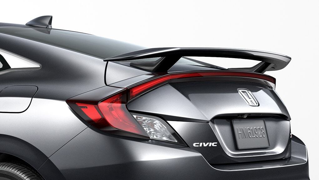 2018 Civic Coupe Si rear wing spoiler.