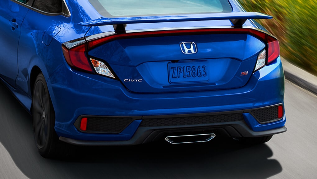 2018 Civic Coupe Si center exhaust finisher.