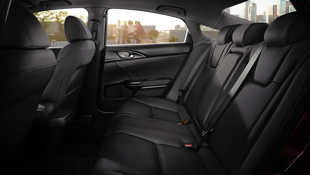 Rear seat interior of 2020 Honda Insight