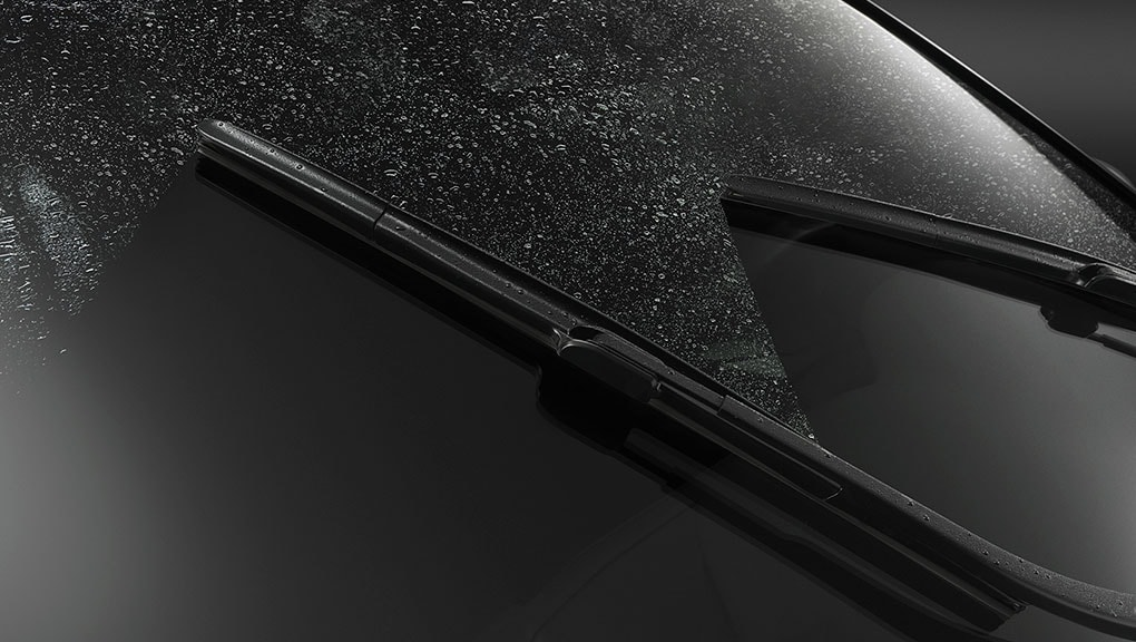 Image of the rain-sensing windshield wipers
