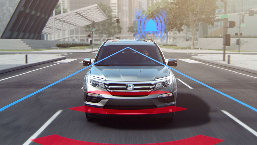 Image of 2017 Ridgeline Collision Mitigation Braking System