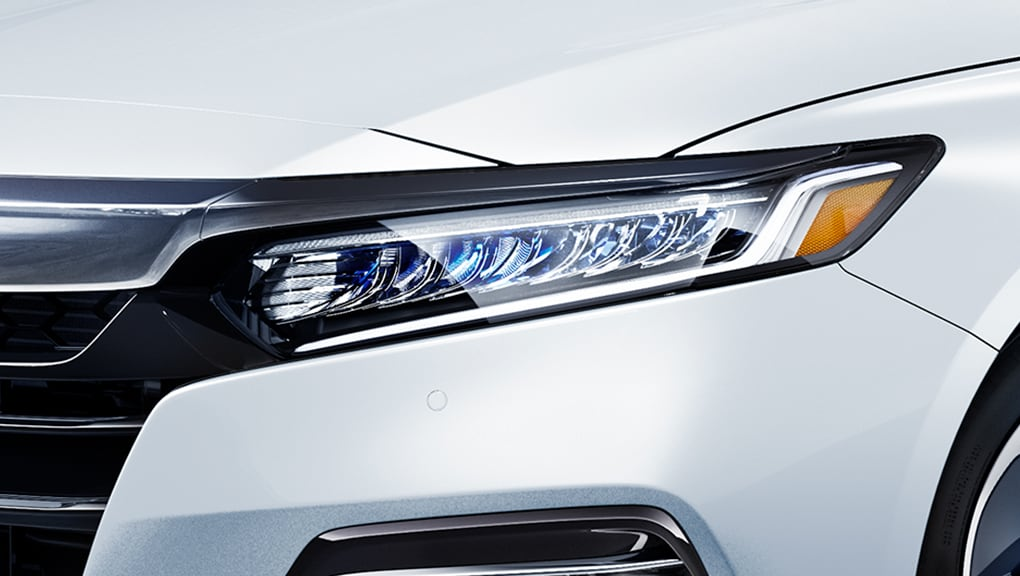 Image of 2020 Honda Accord Hybrid headlights.